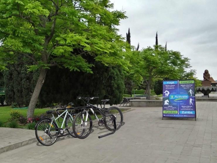 Parque Xochipilli 1 interior acercamiento - Simulación Estacionamiento