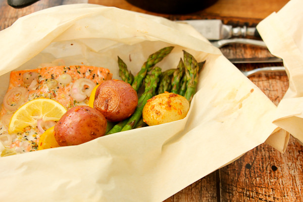 Hobo dinners, Wild Salmon in Parchment