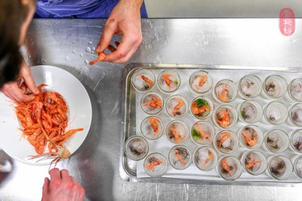1st Course: Shrimp in a Jar