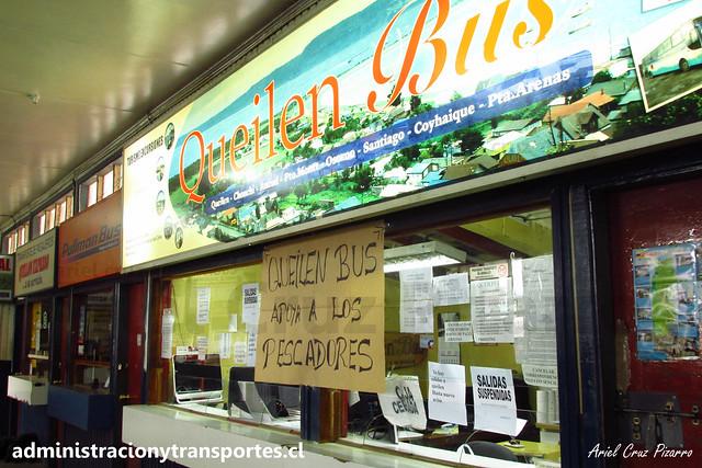Crisis Chiloé: Queilen Bus adhiere al paro