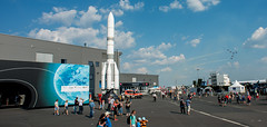 Public day at the 'Space for Earth' pavilion