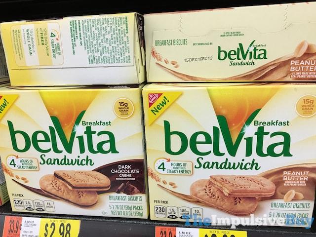 belVita Breakfast Biscuit Sandwich (Dark Chocolate Creme and Peanut Butter)