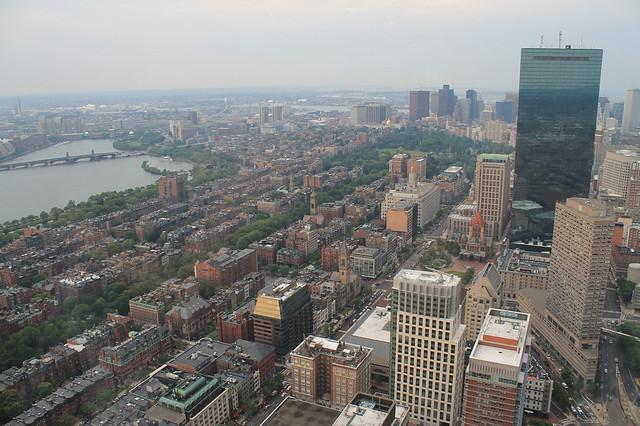 Vistas de Boston desde el Skywalk