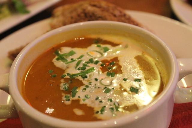 Sopa de calabaza, en 'Pelgrim Bar'