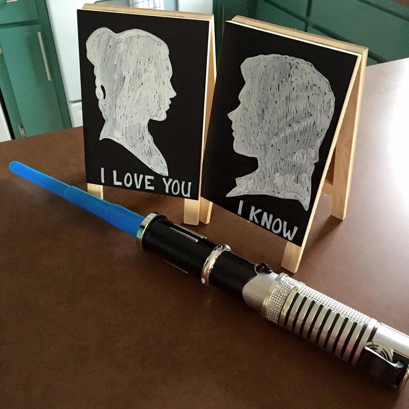 Star Wars-themed wedding from @offbeatbride