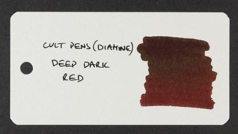Cult Pens (Diamine) Deep Dark Red - Word Card