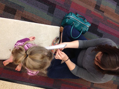Preschool sew a story at the local library