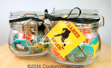 Hockey Coach gift cookie jar