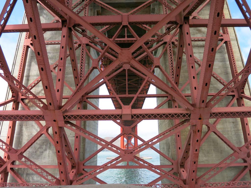 Under Golden Gate Bridge view