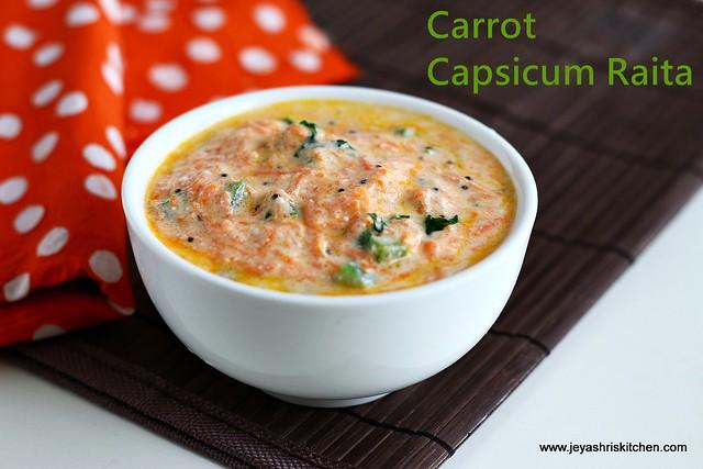 carrot-capsicum raita