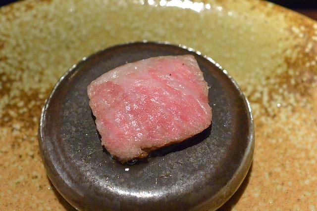 a5 wagyu from matsuzaka with seasonal vegetables