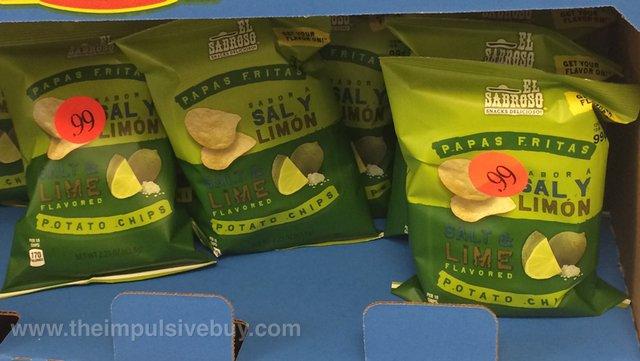 El Sabroso Papas Fritas Salt & Lime Potato chips