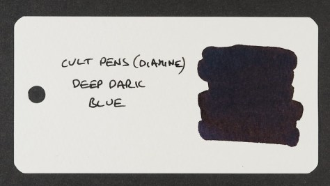 Cult Pens (Diamine) Deep Dark Blue - Word Card