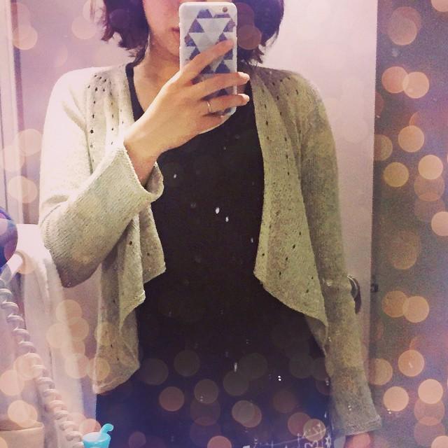#ba_ba_VitaminD - wearing!! てろんと落ちてくれていい感じ♡袖丈の調整もなかなか既製品じゃ難しいので希望通りで嬉しい!