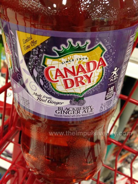 Spotted On Shelves Canada Dry Limited Time Offer Blackberry Ginger