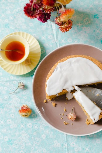 Custard Cake with Whipped Coconut Cream