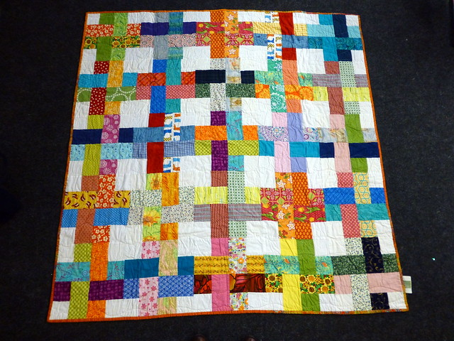 Bee blessed woven strips quilt