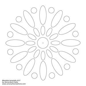 Mandala template 17