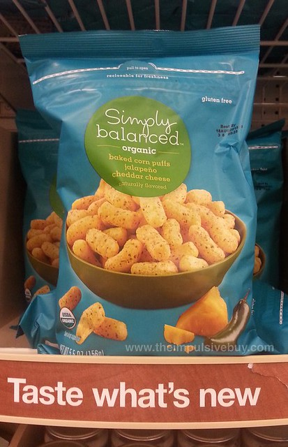 Simply Balanced Organic Jalapeno Cheddar Cheese Baked Corn Puffs