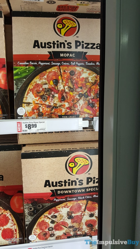 Austin's Pizza Mopac and Downtown Special Pizzas