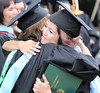 """Leeward Community College faculty greet and congratulate students at the campus' spring 2016 commencement ceremony on May 13 at the Tuthill Courtyard.  View more photos: <a href=""""https://www.flickr.com/photos/leewardcc/albums/72157668412143125"""">www.flickr.com/photos/leewardcc/albums/72157668412143125</a>"""