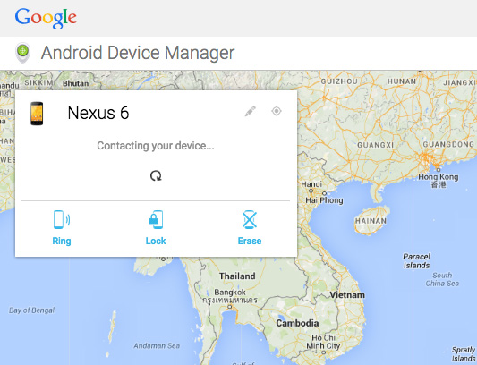 Track your lost android device