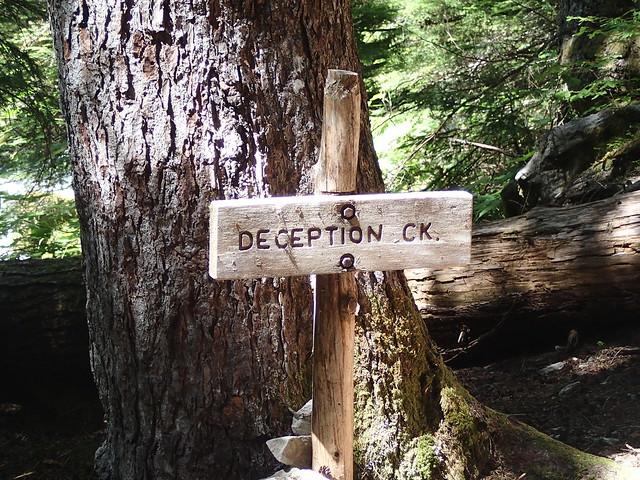 Deception Creek Sign