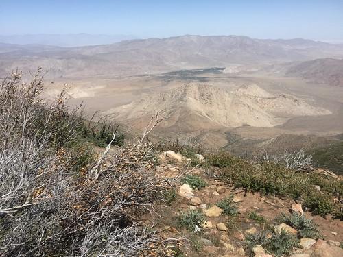 Desert below