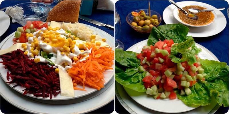 Diversas ensaladas