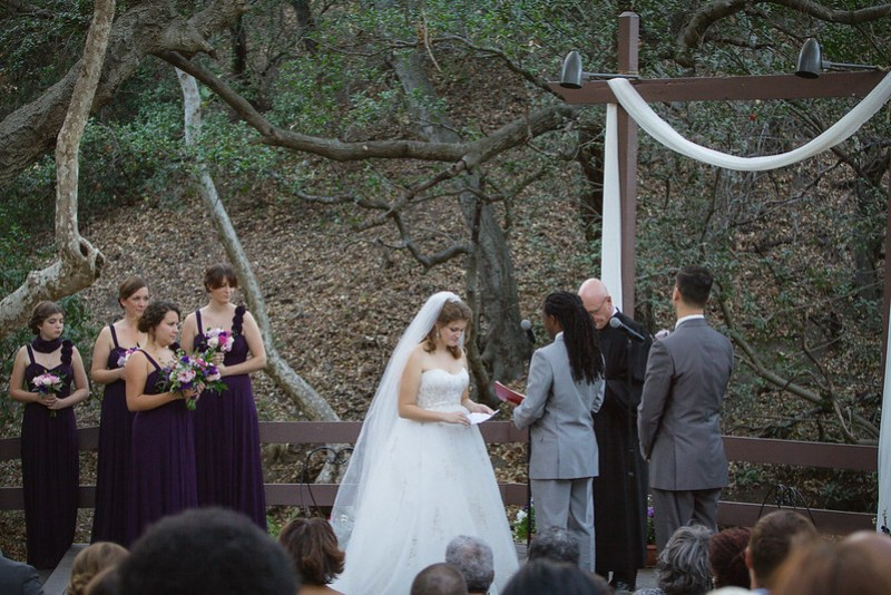 Fantasy-inspired forest wedding from @offbeatbride