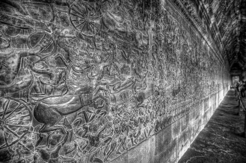 Bas-reliefs in Angkor Wat