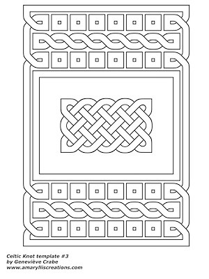 Celtic knot template 3