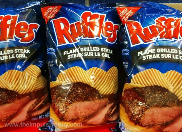 Ruffles Limited Time Only Flame Grilled Steak Potato Chips