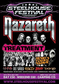 Poster for Steelhouse Festival Nazareth announcement