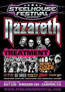 Poster for Steelhouse Festival Nazareth announcement