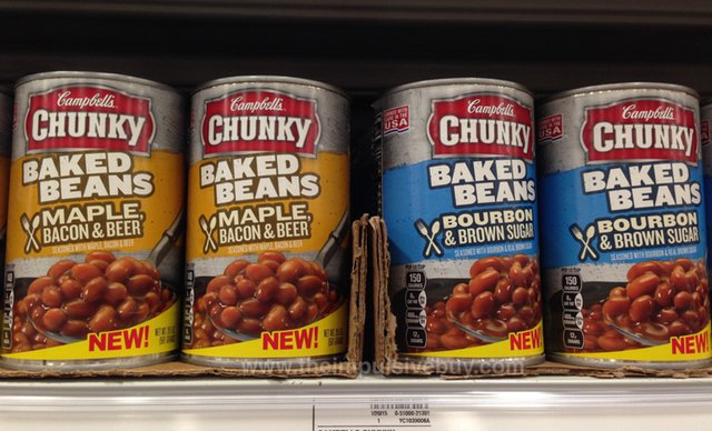 Campbell's Chunky Baked Beans (Maple, Bacon & Beer and Bourbon & Brown Sugar)