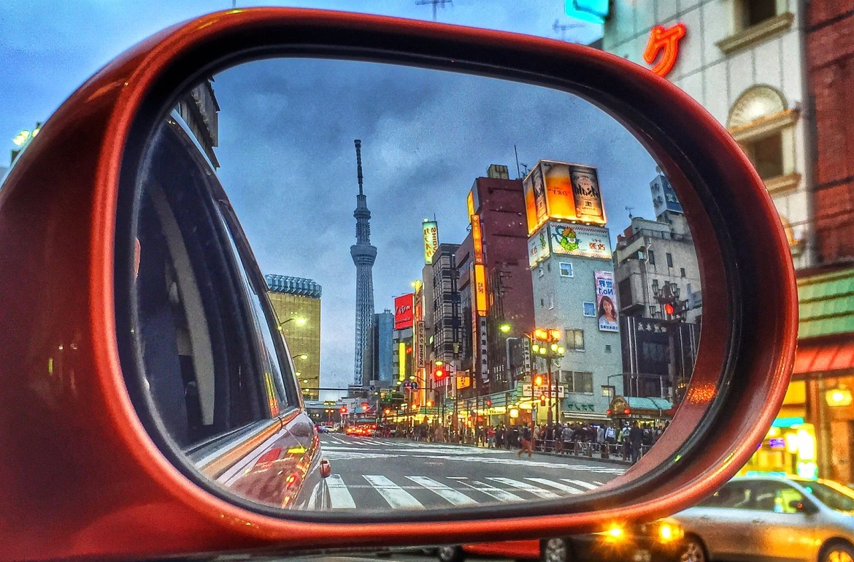 Asakusa and Tokyo Skytree Reflections