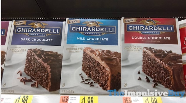 Ghirardelli Dark, Milk, and Double Chocolate Premium Cake Mixes