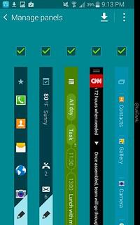 เลือกว่าจะให้ Panel ไหนมาแสดงบน edge display บ้าง และปรับแต่ง Panel บางตัวได้