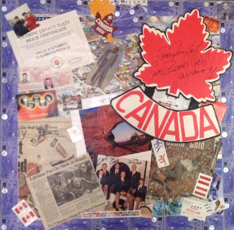 """22 Events in 13 Days"" SLC Olympics, 2002 / mixed media collage"