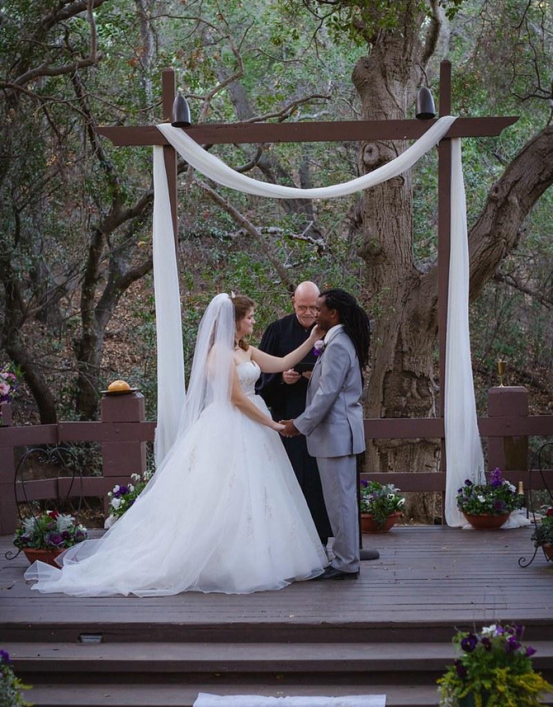 Fantasy-inspired forest wedding from @offbeatbride