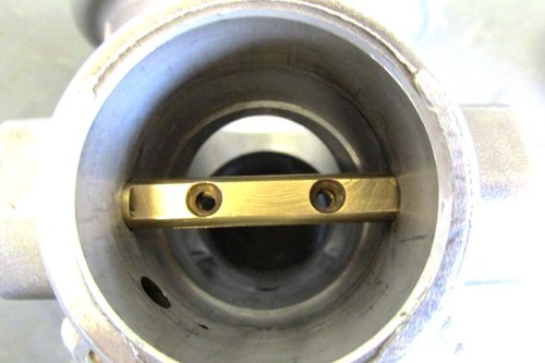 Throttle Shaft Alignment (Counter Sunk Holes Face Outside)