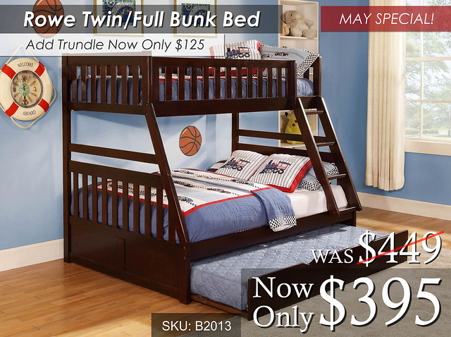 Rowe Twin Full Bunk Bed May Special
