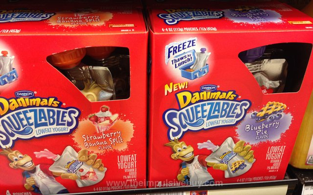 Dannon Danimals Squeezables (Blueberry Pie and Strawberry Banana Split)