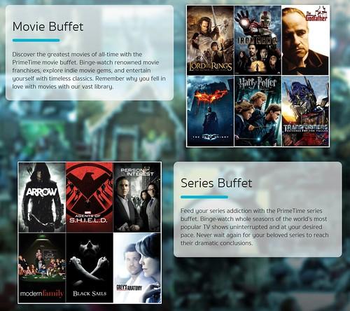 บริการ Movie Buffet และ Series Buffet ของ PrimeTime