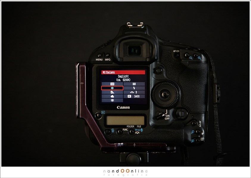 instelmogelijkheden van een Canon camera