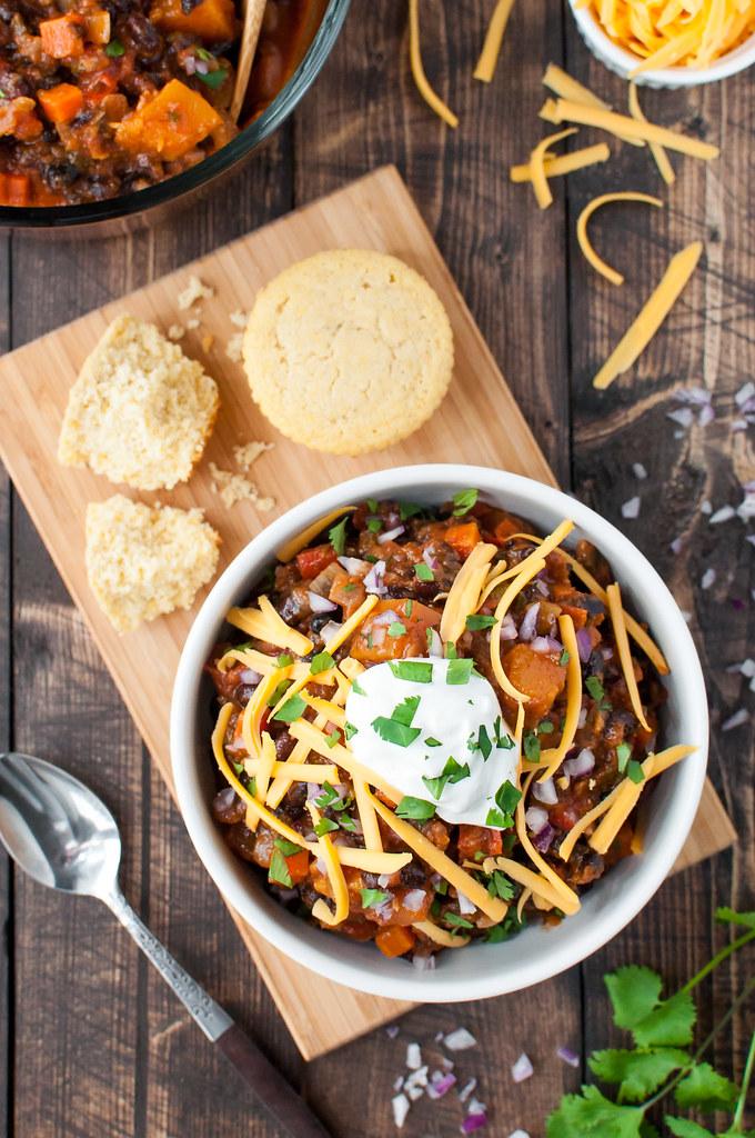 Year-round weeknight chili | gluten-free/vegan