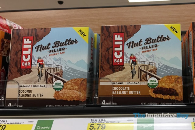 Clif Bar Nut Butter Filled Energy Bars (Coconut Almond Butter and Chocolate Hazelnut Butter)