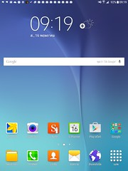 Home screen ของ Samsung Galaxy Tab A 9.7 with S Pen