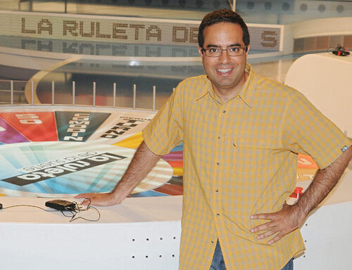 Nacho en el plató de La Ruleta en 2010